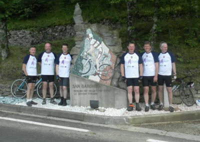 Dr Nick Maskell 200km cycle ride in 24 hours, with 3km vertical climb in San Baronto in Italy, the village named after the patron saint of cycling, to raise funds for AMF